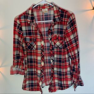 Red and blue plaid long sleeve